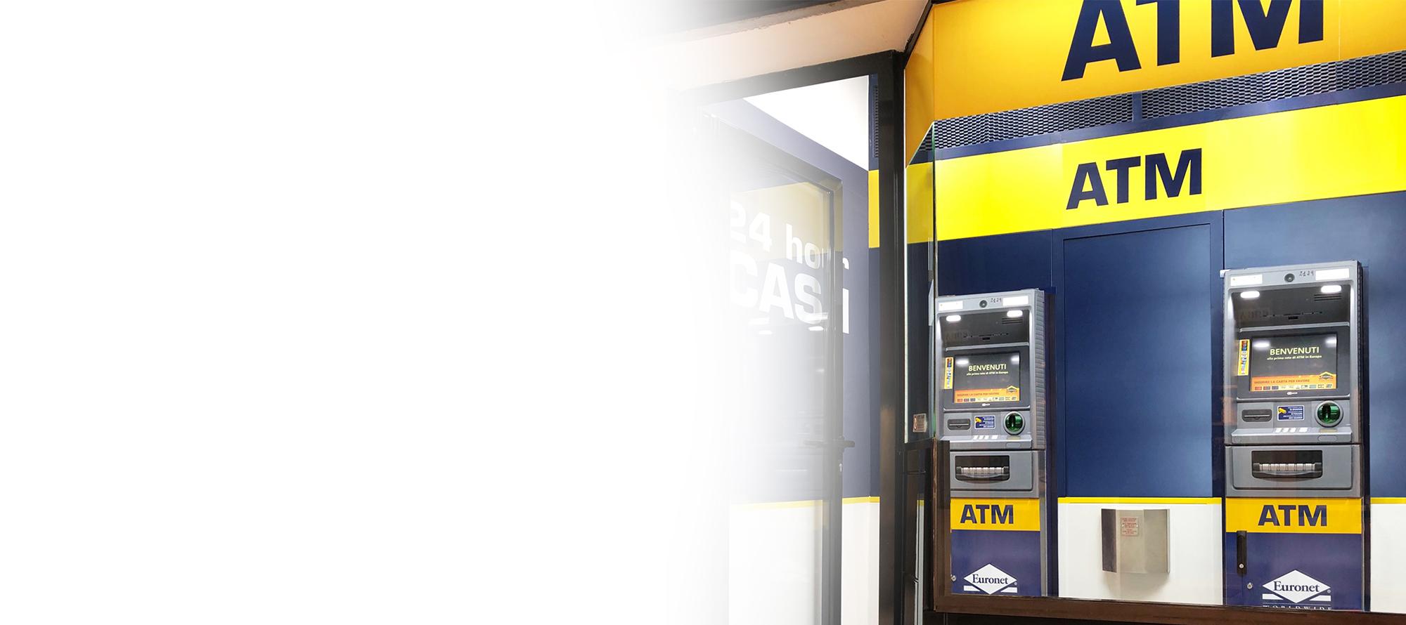 Un ATM Euronet può apportare benefici alla tua attività e fornire ai clienti un comodo accesso ai contanti.