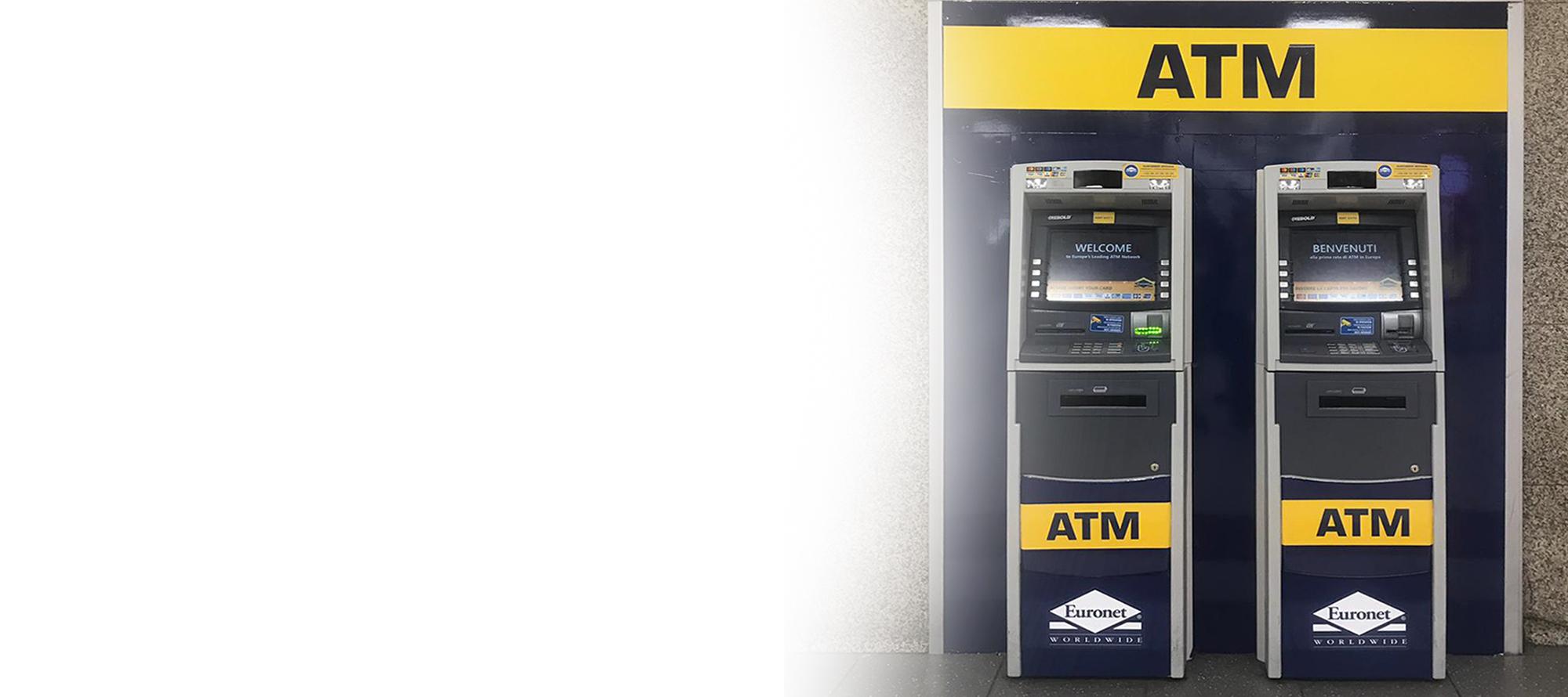 Offri ai tuoi clienti un servizio aggiuntivo con un ATM Euronet.