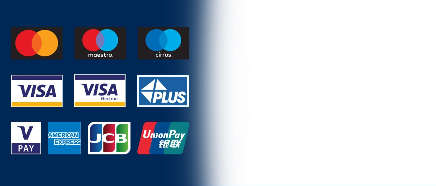 Gli ATM Euronet accettano tutte le principali carte.